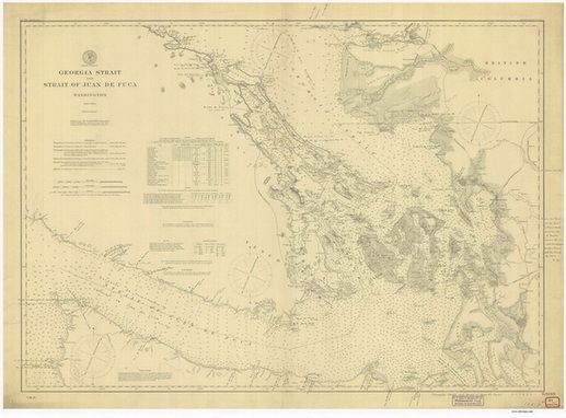 Pacific Coast Nautical Chart - 1:200,000 Scale