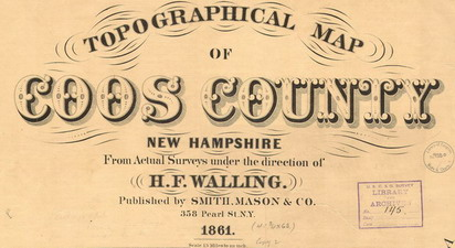 Old Maps of Coos Co NH, 1861