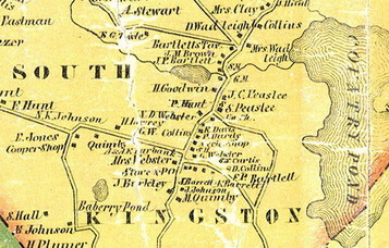 Old Maps of Rockingham Co NH, 1857 Town Map Excerpt