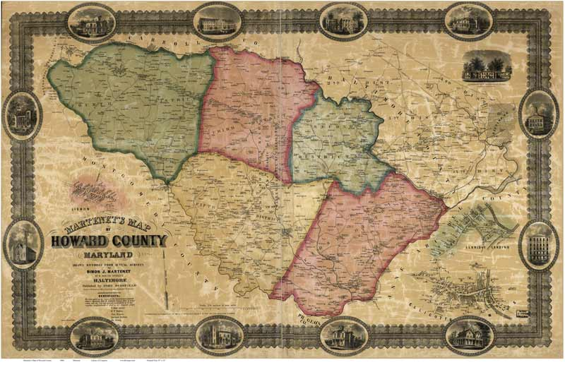 County Maps of Maryland