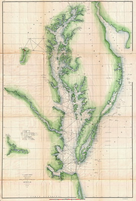 Delaware and Chesapeake Bays - Preliminary Survey Chart