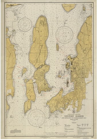 Nautical Chart of Newport Harbor - 1931