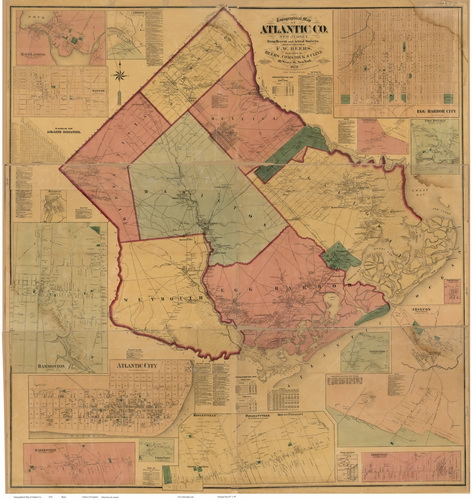 Old County Wall Maps of New Jersey