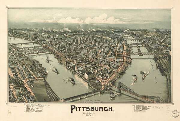 Bird's Eye Views of Pennsylvania Towns & Cities