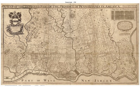 Map of Philadelphia PA, 1792