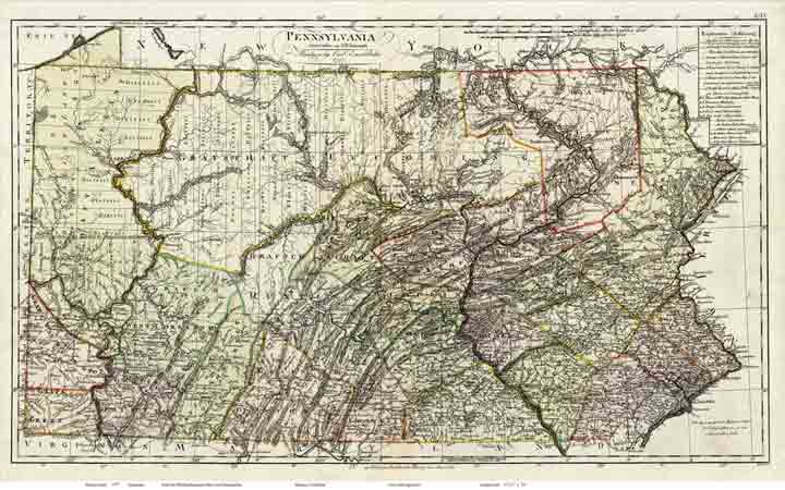 Maps of the State of Pennsylvania