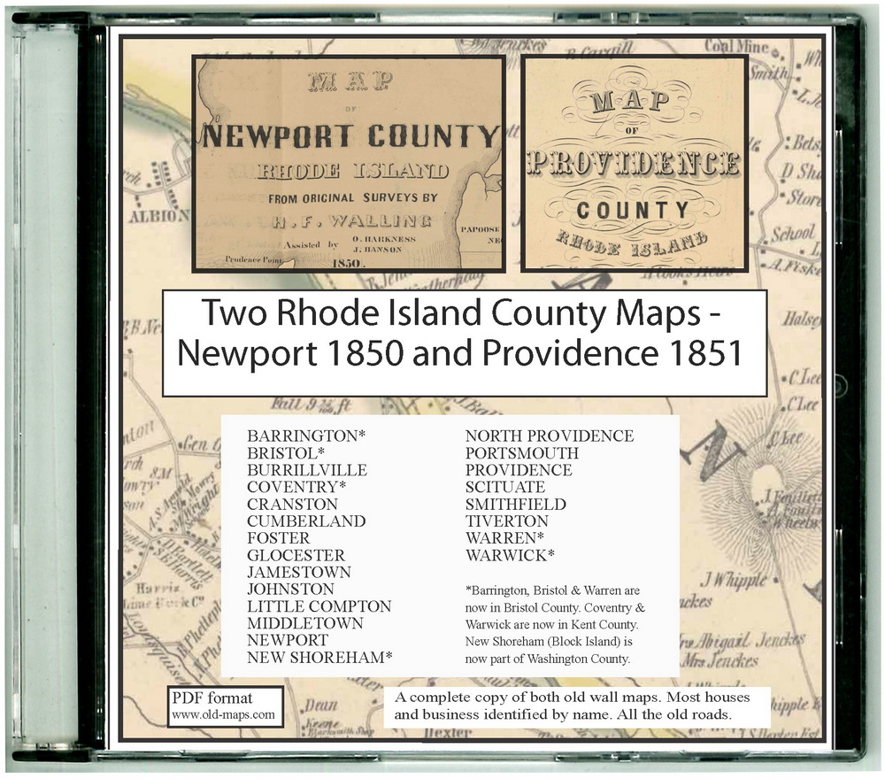 Maps of Newport Co RI, 1850 CDROM